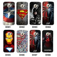 Wholesale superman phone covers - Marvel Avengers Superman Hard Back Phone Case Cover for Samsung Galaxy S6 S7 Edge S7E Batman Spider Ironman Deadpool Captain America Shield
