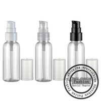 Wholesale Cream Pet Packages - 50pcs,50ml Mini transparent cream PET bottle pump 50cc travel size empty plastic cosmetic packaging bottle container