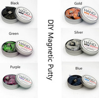 Wholesale Brand Hand putty DIY Thinking slime Playdough Magnetic Rubber Mud Strong plasticine Putty Magnetic Clay Viscose Education Toys Kids Gift