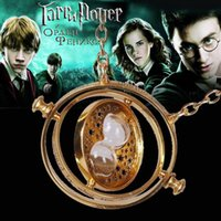Wholesale Choice Films - Harry Potter Film Jewelry Necklace Hermione Granger Time Turner Neck Decoration Horcrux Hourglass Rotating Spins Multiple Choices