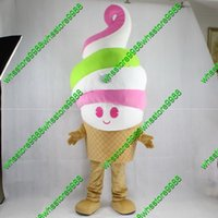Wholesale Ice Cream Mascot Costumes - Factory direct sale cute ice cream cartoon mascot costume delicious carton cone mascot costumes 0883