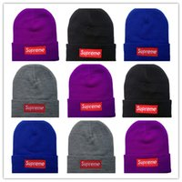 Wholesale plastic cap design - Hot Wholesale-New Autumn Winter Unisex wool hats fashion casual brand sup Beanies For Men and women Striped design Free Shipping