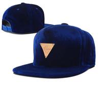 Wholesale Hater Leather Snapback - Leather Hats blue Hater Snapback caps Snapbacks Fashion hat for Men Sports hats Snapback Cap Adjustable hater Strap backs Mix Order