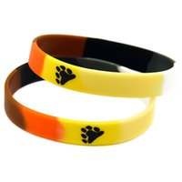 Wholesale Cheap Silicon Bands - Wholesale Shipping 100PCS Lot Cheap Rubber Band Bracelets, Printed Logo Bear Pride Silicon Wristband Promotion Gift