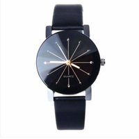 Wholesale H6 Battery - Women's Leather Wristwatches Stainless Steel Crystal Diamonds Dial Analog Quartz Wrist Watch For Men & Women H6