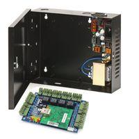панель управления доступом tcp ip оптовых-Панель доски контроля допуска дверей TCP/IP 4 с 220V к электропитанию DC 12V коробка силы 30-60W черноты цвета для системы контроля допуска