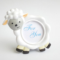 Porte-carte Anniversaire Pas Cher-Baby Lamb Cute Sheep Shape Photo Frame Place Card Holder Baby Shower Décoration de table de fête d'anniversaire Livraison gratuite ZA3702