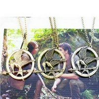 Wholesale Popular Bird - Wholesale- 2016 New Popular Europe And The United States Popular Retro Punk Style Hunger Game Bird Necklace For Men And Women Wholesale