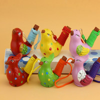 Wholesale Ceramic water bird whistle home decoration children gifts DHL FEDEX