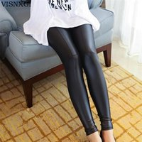 Wholesale Faux Leather Leggings for Women Sexy Ladies Large Size Legging Pants Trouser Super Elastic Stretch Skinny Pants Jeggings