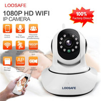 Wholesale outdoor wireless home security systems - LOOSAFE HD P Wireless IP Camera WIFI Onvif Video Surveillance Alarm Systems Security Network Home IP Camera Night Vision