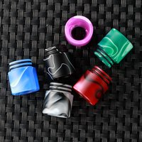 Wholesale ming drip tips - 810 Acrylic Drip tip Color pattern Acrylic Wide Bore Mouthpiece for TFV8 TFV12 Colorful Ming Drip Tips Free Ship