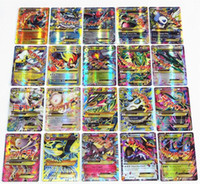 Wholesale Free Games Cards - No Repeat English POKE GX Trading Card 60 70 Card 60 Mega Cards EX Cards For TCG Cards Games KIDS TOY AS A GIFT Free Shipping