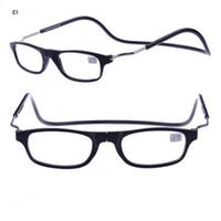 ingrosso occhiali da lettura appesi-New Clic Occhiali da lettura Magnetic Stone On Nose Fashion Reading Occhiali Hang Colour 4 Colori economici all'ingrosso Occhiali Shop