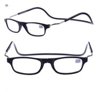 Wholesale Eyewear Glasses Nose - New Clic Reading Glasses Magnetic Stone On Nose Fashion Reading Eyewear Hang Neck 4 Colors Cheap Wholesale Glasses Shop