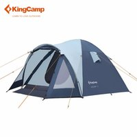 Wholesale Large Tents For Camping - Wholesale- KingCamp Large 3 - 4 Person Tent tourist tent camping family tent for outdoor recreation automatic ultralight