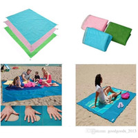 Wholesale Travel Picnic Blanket - New 2017 Sand Free Mattress Summer Beach Mat 200cm x 150cm Waterproof Outdoor Camping Picnic Pad picnic blankets b1206-1