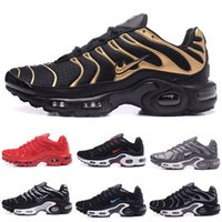 Wholesale Max Tn Sports Shoes - free shipping tn Fashion Brand MAXES PLUS TN ULTRA MEN'S Black Black Anthracite Men Runs Breathable Sports running Shoes US 7-12