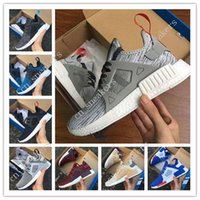 Wholesale Plastic Mesh Net - 2017 New Arrival NMD XR1 Boost Duck Camo Navy White Army Green for Top quality MND III Net Surface Running Shoes Size 36-45 Free Shipping