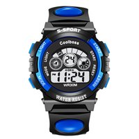 Wholesale Electronic Male Toys - Kids Fashion Sport Watch Student Waterproof Clock Backlight Changes Digital Electronic Wrist Watch for Children high quality toy OTH118
