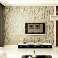 habitaciones forradas al por mayor-Moderno 3D en relieve piel de venado 3D flocado papel pintado para el dormitorio sala de estar decoración del hogar 3D WallPaper rollo decoración del hogar