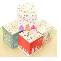 Wholesale Christmas Eve Gift Boxes - Free shipping Christmas Eve apple box cookie box dessert gingerbread boxes candy gift package supplies WA2059