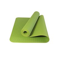 "Wholesale Material Density - Wholesale-Yoga Mat by 1 4"" (6mm) Thick Premium 100% TPE Material Non Slip Eco-Friendly with Carry Strap Yoga High Density Memory Foam Mats"