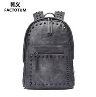Wholesale Han Edition Leather Backpack - wholesale brand bao han edition riveted double shoulder bag high quality leather double shoulder bag antique rivet punk double shoulder bags