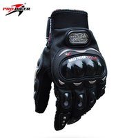 Wholesale glove pro biker resale online - Hot PRO BIKER Motorcycle Gloves Full Finger Bike Men Cycling glove Moto Sport Gear MCS C