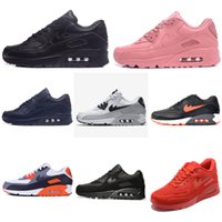 Wholesale Body Increase - Free shipping 2017 Air 90 Increased Running shoes Women And Men Sports shoes damping High Quality classic Casual shoes Pink Size Eur 36-45