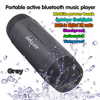 Wholesale S1 Flashlight - Zealot S1 Waterproof Wireless Bluetooth Speaker PowerBank Output 3 Mode Flashlight Handsfree for Smartphone TF Card Caixa de Som