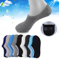 Wholesale Boat Hose - Invisible Boat Sock The new Style For Men Silicone Shallow Mouth Thin Hose Pure Color Sports Socks Cotton Good Comfort 1 18lx F