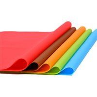 Wholesale heat resistant polyester - Colorful Silicone Baking Mat Non Stick Heat Resistant Oven Sheet Mats 40*60cm Table Mat Placemat OOA3513
