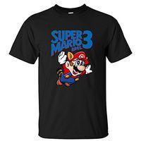 Wholesale Funny Retro Shirts - Male Pre-Cotton Clothing 100% Cotton Retro Muso Super Mario Bros 3 Men'S T Shirt Short Sleeves Men'S O-Neck Short Funny T Shirt