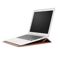 ingrosso mela 15-Custodia in pelle Premium 13 inch MacBook portatile Borsa per Apple MacBook 11,6 12 13,3 15,4 Aria Pro Retina morbido del manicotto di sacchetto della busta