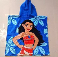 Wholesale Wholesale Hooded Towels For Kids - Kids Cartoon Moana Princess Spiderman Hooded Bath Towel 100% Cottton 60*120cm 40design cartoon children bath towel for boys and girls