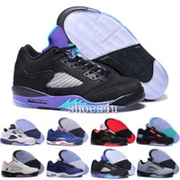 Wholesale Blue Reflective Fabric - High Quality Retro 5 OG Black Metallic Men Women Basketball Shoes 3M Reflective Effect Sup 5s Sneakers With Shoes Box