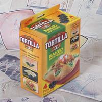 Wholesale Tortilla Pans - Perfect Black Tortilla Six Baking Not Fried Mold Pan Great Non Stick Taco Bowl Kitchen Cooking Tools 9 hk J