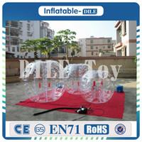 Wholesale hot toys soccer online - Customized m Inflatable Ball Suit Bubble Soccer Suit Bubble Football Suit Hot Sale PVC Zorb Inflatable Ball
