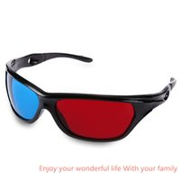 Wholesale Cheaper 3d Glasses - Wholesale- 1 Piece Black Frame Red Blue Lens Design 3D Glasses For Projector Movie Anaglyph Movie DVD Game Lens Cheaper than RITECH Riem 3