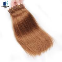 Wholesale Deep Auburn - 100g Remy Hair Bundles Color 30 Medium Auburn Silk Straight Body Wave Deep Kinky Curly Quality Brazilian Human Hair Weave Bundles