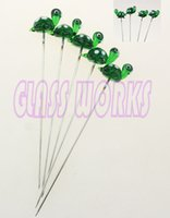 Wholesale waxing iron - oil dabber Smoking wax dabber turtles dabber made of iron And glass 10pcs lot free shipping