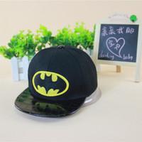 Wholesale Cheap Batman Caps - Cheap New Boys Girls Fashion Batman Hats Flat Edge Ball Caps Sports Bboy Snapback Baseball Caps Adjustable Hip Hop Hats Cool 10Pcs Lot