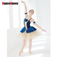 Wholesale Children Swan Ballet Costume - 2017 Professional Ballet Tutu For Children Adult Performance Dance Costumes 110-160 CM Swan Lake Ballet Costumes Vestido BalletJDQ10009