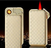 Wholesale electronic flame lighter - Electric dual-purpose cigarette windproof creative personality male and female USB charging electronic cigarette lighter