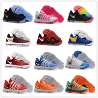 Men split peach - 2017 Top quality FMVP KD EP X Elite Mens Basketball Shoes for Warriors Home Colors Wolf Kevin Durant s KD10 Sports Sneakers US Box