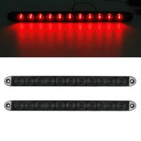 """Wholesale Camaro Bar - 15"""" Smoke Red 11 LED Waterproof Car Trailer Truck Stop Turn Tail brake Light Bar Identification Light"""