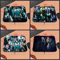 Wholesale Slips Movies - Hot Sell Print Design Anti-slip New Arrival harry potter All Movies Customized Rectangular Mouse Pad Computer PC Nice Gaming