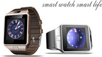 Wholesale Wrist Pedometers - smartwatch DZ09 Smart Watch for Android phones with camera fitness tracker watches and SIM card slot pedometer