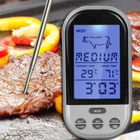 Wholesale Digital Wireless Thermometer Kitchen - Hot Digital Wireless Remote Kitchen Oven Food Cooking BBQ Grill Smoker Meat Thermometer Temperature Gauge&Alert New